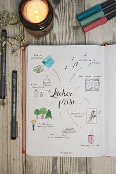 Créer une page lâcher prise dans un bullet journal histoire de se rappeler quand ça ne va pas, comment se détendre et passer à autre chose. Une page facile et simple à créer dans un bullet journal avec quelques doodles et un peu de lettering.