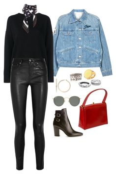 """""""Untitled #32"""" by boy0blue ❤ liked on Polyvore featuring Étoile Isabel Marant, Frame, Helmut Lang, Chrome Hearts, Gucci, Yves Saint Laurent, Ray-Ban and Elizabeth and James"""