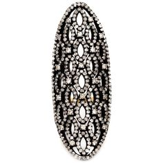 Lauren Craft Collection Diamond Cocktail Ring ($3,520) ❤ liked on Polyvore featuring jewelry, rings, accessories, joias, metallic, pave diamond ring, statement rings, fine jewellery, diamond jewellery and pave diamond cocktail ring