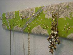 Stylish fabric Jewelry Board, Jewelry hanger, Jewelry hook, custom handmade