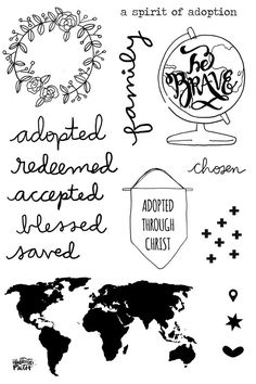 Adoption Rocks!!! 4x6 Stamp Set for Illustrated Faith - $6 for each set is donated to Janel's family adoption fund!