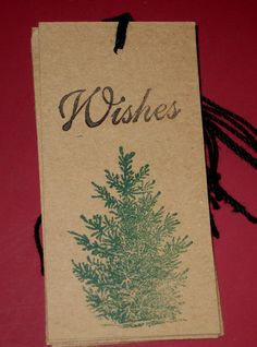 Wishes Gift Tag by Judyscrafts on Etsy, $4.98