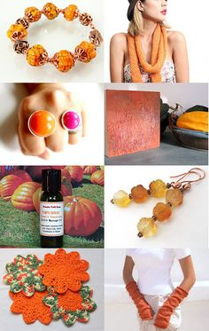 For the Love of Pumpkin By #RoughMagicCreations #JewelryOnEtsy #Maineteam #Pumpkin #Orange #FallFashion #AutumnColorTrends