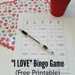 "Things ""I LOVE"" Bingo Game"