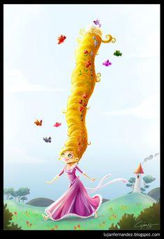 LUJÁN FERNÁNDEZ DRAWS STRONG WOMEN OF POP-CULTURE: Rapunzel