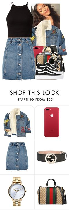 """Untitled #2095"" by toniiiiiiiiiiiiiii ❤ liked on Polyvore featuring Gucci, Topshop, Nixon and Vans"