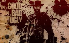 THE GOOD THE BAD AND THE UGLY western clint eastwood poster     g wallpaper background
