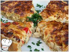 ΤΥΡΕΝΙΑ ΤΑΡΤΑ ΚΟΤΟΠΟΥΛΟΥ!!! - Νόστιμες συνταγές της Γωγώς! Cookbook Recipes, Cooking Recipes, Quiche, Brunch, Snacks, Chicken, Meat, Food, Pie