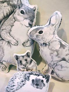 Petunia the Rabbit Pillow by HeatherVitticore on Etsy