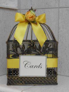 Birdcage Wedding Card Holder / Card Box / Wedding by YesMoreFunk, $30.00