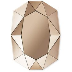 Reflections by Hugau/Larsson Diamond Mirror - Rose Gold - Small (€925) ❤ liked on Polyvore featuring home, home decor, mirrors, metallic, handmade home decor and painted mirrors