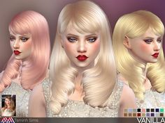 Sims 4 CC's - The Best: Vanilla Hair by TsminhSims