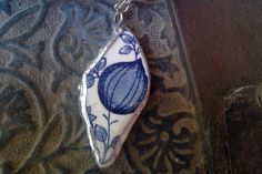 China pendant and necklace by AzureJoyeria on Etsy