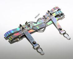 Silver heart garters for Uchuu Kei style