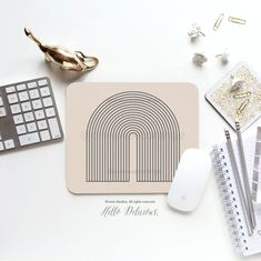 Line Art Mouse Pad Minimalist Mouse Pad Arches Mouse Pad Christmas Gift Coworker Gift Office Mouse Pad Desk Accessories Dorm Mouse Pad 57