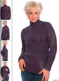 Пуловер с имитацией кос Mock Cable и шарф из Knit'n Style 2010-12(170) - Елена Антонова - Веб-альбомы Picasa