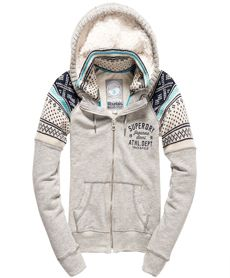 A soft jersey hoodie featuring knitted shoulder panels, a sherpa lined knit trimmed hood, a knitted inner collar… Printed Sweatshirts, Hooded Sweatshirts, Hoodies, Cropped Hoodie, Zip Hoodie, Laid Back Style, Sherpa Lined, Superdry, Lounge Wear