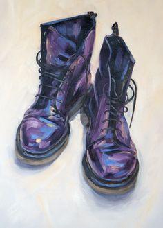 Purple DMs 2013, oil on canvas, 45x60cm