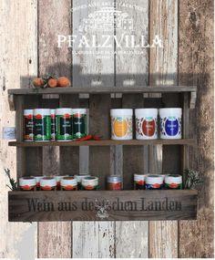 +Gewürzregal aus alter ausgedienter Weinkiste.+   Ein Geschenk für sich und die eigene Küche oder ein Geschenk für eine besondere Person mit besonderem Geschmack. Mit dem Hirsch-Pfalzvilla...