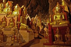 Pindaya Caves located next to the town of Pindaya, are a Buddhist pilgrimage site and a tourist attraction located on a limestone ridge in the Myelat region, Myanmar.
