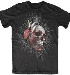 Death Heart Men's Gothic Punk Teeshirt - #infectiousthreads #goth #gothic #horrorpunk #punk #alt #alternative #psychobilly #punkrock #black #fashion #clothes #clothing #darkfashion #streetfashion