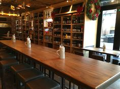 Woodetails - Lions Beerstore - Manhattan .  wood walnut