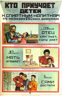 soviet postcard and posters | Кто приучает детей к спиртным напиткам