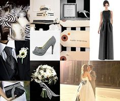 Black and White Striped Wedding Theme by pearlie