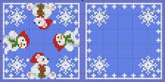 Cross-stitch Polar Bears & Snowmen Biscornu Set... no color chart, just use pattern chart colors as your guide.. or choose your own colors.... ...    Картинка
