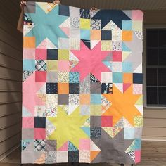 Threadbias: Lucy's Crab Shack STAR Quilt by Tiffanyray