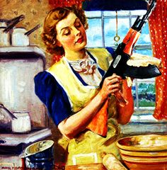 Mom with AK-47 Norman Rockwell memories funny pro gun AK-47 Russia