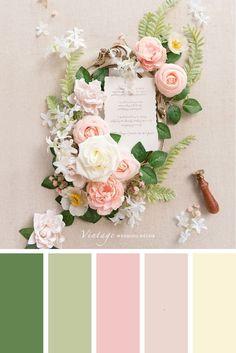 Color Schemes Colour Palettes, Green Color Schemes, Green Colour Palette, Color Combinations, House Color Palettes, Pantone Colour Palettes, Spring Color Palette, Spring Colors, Pink Green Wedding
