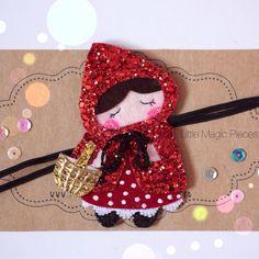 Little Red Riding Hood Headband Glitter por LittleMagicPieces