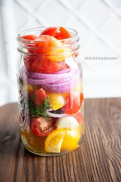 Pickled tomatoes...summer in a bottle!