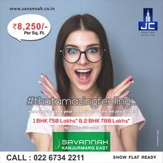 #thatamazingfeeling when you booked your home before the Next Price Rise! Savannah by Jaycee Homes offers 1BHK @ 58Lakhs* & 2BHK @88Lakhs*. For more details: www.savannah.co.in