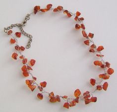 Your place to buy and sell all things handmade Necklace Lengths, Beaded Necklace, Agate Stone, Carnelian, Weave, Chokers, How To Apply, Make Up, Note