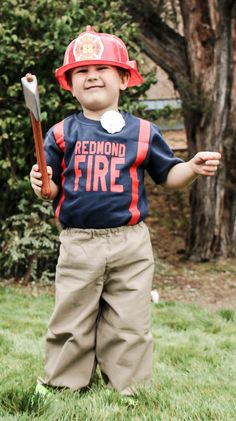 Are you in search of Halloween costume ideas for toddler boys? This firefighter outfit is so cute! I love the personalized shirt and high quality fireman pants! Such a creative and unique idea. Cute Toddler Halloween Costumes, Native American Halloween Costume, Homemade Halloween Costumes, Baby Chicken Costume, Disney Costumes, Couple Costumes, Adult Mickey Mouse Costume, Sibling Costume, Black Swan Costume