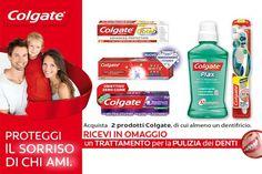 Acquista un dentifricio Colgate più un altro prodotto sempre della linea Colgate e ricevi subito una pulizia dei denti gratis fino al 31 Dicembre 2014! Scopri subito come fare!