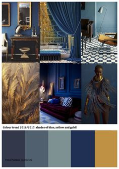 Colour trend 2016/2017: blue, gold and yellow. Petra Postmus Interiors (c)