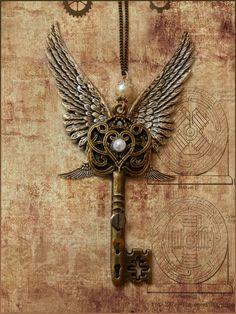 key jewerly   Steampunk Key necklace by ~Nedacat on deviantART