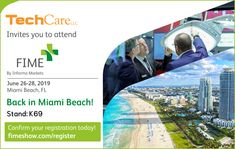 Wednesday we exhibit at FIME (Florida International Medical Expo) show in SoBe Miami! TechCare will be at booth helping people with their websites, social media and SEO. Miami Beach, Exhibit, Helping People, Seo, Wednesday, Health Care, Florida, Medical, Social Media