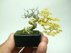 The Beading Gem's Journal: Miniature Wire Bonsai Trees by Ken To