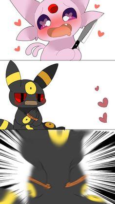 Pokemon Comics, Pokemon Memes, Pokemon Funny, Umbreon And Espeon, Pokemon Eevee Evolutions, Kirby Character, Cute Anime Character, Pokemon Game Characters, Deadpool Pikachu