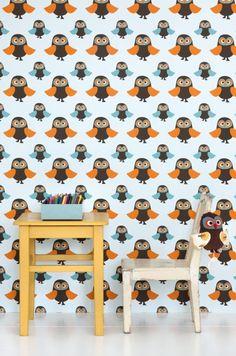 Ferm Owls - Ferm Tapet - Tapetkunst.dk