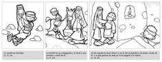 Pasatiempos sobre la Parábola del Buen Samaritano: Fuente: elrincondelasmelli Colorea la Parábola del Buen Samari...