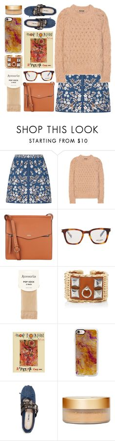 """""""cooking class"""" by foundlostme ❤ liked on Polyvore featuring Needle & Thread, Balmain, Fiorelli, Yves Saint Laurent, Accessorize, Hermès, Casetify, Miu Miu and denim"""