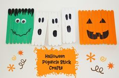 Halloween Decor Popsicle Stick Crafts for Kids