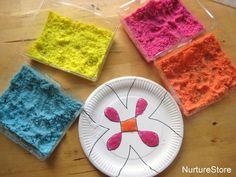 Create Rangoli using coloured salt, glue and paper plates. With instructions on how to colour the salt! And a link to Lakshmi Mantras to listen to while working... From Cathy James