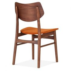 Cult Living Flynt Dining Chair With Orange Seat | Cult Furniture UK