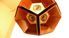 Wooden SPEAKER BALL Experimental Audio /// Dodecahedron by folktek